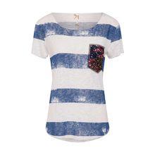 Key Largo Shirt T-Shirts blau Damen