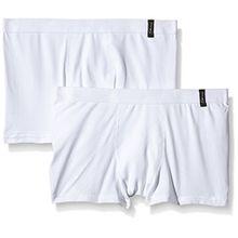 Skiny Jungen Advantage Boys Boys Pant 2er-Pack, Gr. 140, Weiß (0500 WHITE)