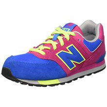 New Balance Unisex-Kinder 574 Cut and Paste Sneakers, Mehrfarbig (Blue/Pink), 38.5 EU