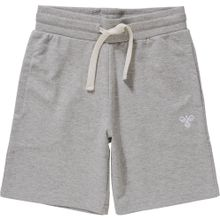 Hummel Sweatshorts grau / weiß