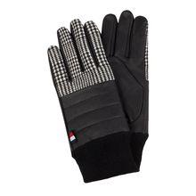Handschuhe mit Lederbesatz - wattiert