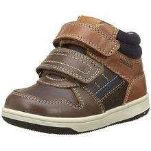 Geox Baby Jungen B New Flick Boy A High Top Sneaker, Braun (Coffee/Cognac), 22 EU