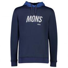 Mons Royale - Decade Logo Hoody - Merinopullover Gr L;M;S;XL schwarz;blau/schwarz