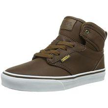 Vans Y ATWOOD HI (MTE) BROWN/COF, Unisex-Kinder Hohe Sneakers, Braun ((MTE) brown/cof/DWX), 33 EU (2 Kinder UK)