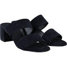 Paul Green 6016-102 Damen Elegante Pantolette in Veloursleder 45-mm-Blockabsatz, Groesse 6 1/2, Blau