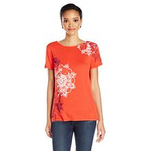 Desigual Damen T-Shirts TS_MASI, Rot (Rojo Country 3075), X-Small (Herstellergröße: Small)