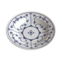 """Kahla Suppenteller """"Blau Saks"""" Ø 22 cm blau/weiß"""
