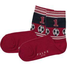 FALKE Socke rot / schwarz / weiß