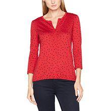 TOM TAILOR Damen Bluse Blouse Shirt, Rot (Scooter Red 4543), 40 (Herstellergröße: L)