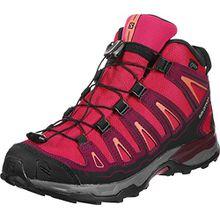 Salomon Unisex-Kinder X-Ultra Mid GTX J Trekking-& Wanderhalbschuhe, Pink (Virtual Pink/Beet Red/Living Coral 000), 34 EU
