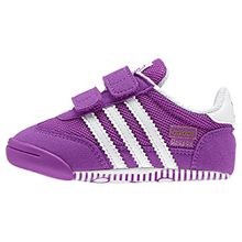 adidas Unisex-Kinder Dragon L2W Crib Sneaker, Violett (Shopur/FTWR White/Shopur), 17 EU
