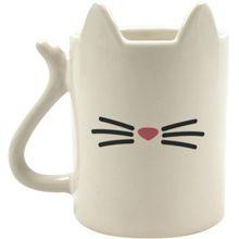 "Kaffeebecher ""Katze"" weiß"