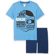 Lego Ninjago Jungen Shorty-Pyjama - blau - 140