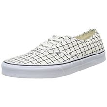 Vans Authentic, Unisex-Erwachsene Sneakers, Weiß (Grid/True White), 39 EU