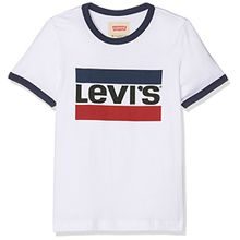 Levi's Jungen T-Shirt SS Tee Ring, Blanc (White), 6 Jahre