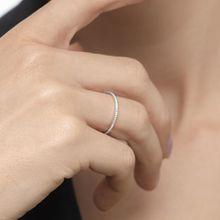 Memoryring mit Diamanten, 18K Weißgold