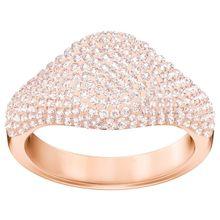 Stone Signet Ring, rosa, rosé Vergoldung