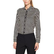 eterna Damen Bluse Comfort Fit Langarm Braun Bedruckt mit Hemd-Kragen, Braun (Braun 29), 40