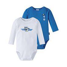 Schiesser Baby-Jungen Body Multipack 2pack Bodies 1/1, 2er Pack, Mehrfarbig (Sortiert 1 901), 80 (Herstellergröße: 080)