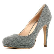 EVITA Damen Pumps CRISTINA Klassische Pumps grau Damen