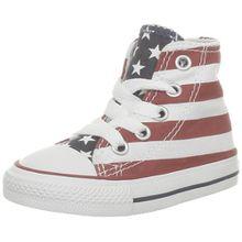 Converse Chuck Taylor All Star 020820-21-3, Unisex - Kinder Sneakers, Weiß (Blanc/Bleu/Rouge), EU 25