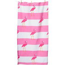 myToys Strand- & Badetuch Flamingo, 75 x 150 cm pink/weiß