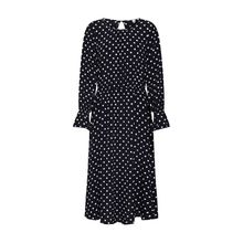 TOM TAILOR DENIM Kleid dotted midi dress Jerseykleider weiß Damen