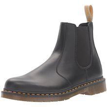 Dr. Martens Unisex Erwachsene 2976 Vegan Chelsea Boots, Schwarz, 42 EU