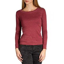 Caspar SRT024 figurfreundliches Damen Langarm Shirt, Farbe:Rot;Größe:L