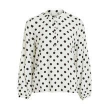 VILA Bluse schwarz / weiß