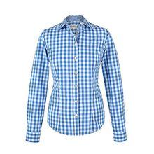 Damen Almsach Trachten-Bluse blau-weiß kariert 'Maria', blau, 50
