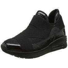 Buffalo Damen 100-30 Neopren Suede Sneaker, Schwarz (Black258), 38 EU