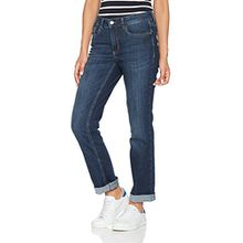 MAC Damen Straight Jeans Melanie, Blau (Dark Blue D845), W36/L28