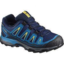 Salomon Unisex-Kinder X-Ultra GTX J Trekking-& Wanderhalbschuhe, Blau (Blue Depth/Cloisonné/Blazing Yell O 000), 35 EU