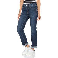 MAC Damen Straight Leg Jeanshose Melanie, Blau (Dark Blue D845), 44/36L
