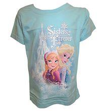 Disney Frozen Mädchen Blau T-Shirt 2-3 Jahre