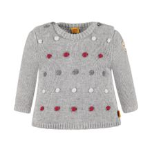 STEIFF Pullover grau / rot / weiß