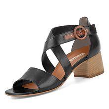 Paul Green 7164-002 Damen Elegante Sandalette Glattleder Schnalle 45-mm-Absatz, Groesse 5 1/2, Schwarz