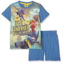 Lego BATMAN Jungen Zweiteiliger Schlafanzug 79235, Blau (Bleu Bleu), 10 Jahre