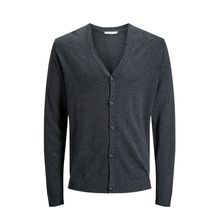 JACK & JONES Minimaler Strickjacke Herren Grau