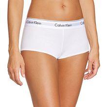Calvin Klein Damen Panties MODERN COTTON - SHORT, Gr. 34 (Herstellergröße: XS), Weiß (WHITE 100)