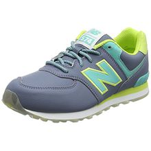 New Balance Unisex-Kinder KL574Z5Y-574 Sneaker, Mehrfarbig (Yellow/Aqua 737Yellow/Aqua 737), 37.5 EU