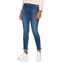 Brax Damen Slim Skinny Jeans BX_SPICE, Blau (USED REGULAR Blue 27), W34/L30 (Herstellergröße: 44K)