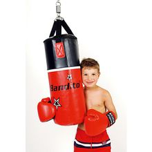 Junior-Set 10kg + Boxh. 8UZ schwarz/rot