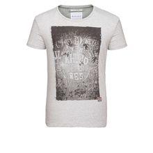 khujo Shirt TIZIAN T-Shirts grau Herren