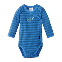 Schiesser Baby-Jungen Body Wickelbody 1/1, Blau (Blau 800), 62 (Herstellergröße: 062)