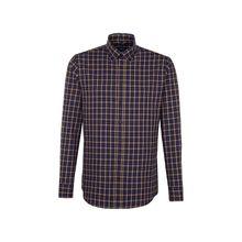 Seidensticker Business Hemd Tailored Langarm Button-Down-Kragen Karo Langarmhemden gelb Herren