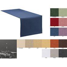 Tischläufer Tischband Fleckschutz Lotus Effekt Garten Leinenoptik abwaschbar in 3 Größen und 14 Farben Farbe: blau 40x140 cm
