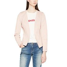 ONLY Damen Anzugjacke Onlanna Short Blazer Noos Tlr, Mehrfarbig (Cameo Rose Stripes:Bright White), 34
