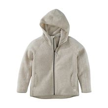 Kinder Fleece Jacke, Organic Cotton beige